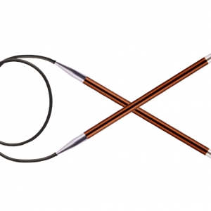 KnitPro Circular knitting needle ZING 5.50 mm 80 cm Sienna