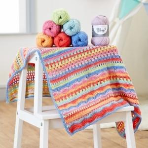 WYS -West Yorkshire Spinners - BoPeep - Carousel Blanket Crochet Pattern Pattern