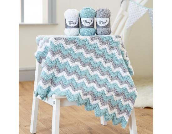 WYS -West Yorkshire Spinners - BoPeep - ZigZag knitting blanket Pattern Pattern