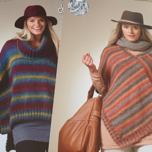 3482 Woman's Square Poncho and Pointed Poncho