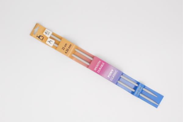 Pony knitting needles 4.50mm 25cm Grey